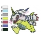 Gabumon Embroidery Design 03